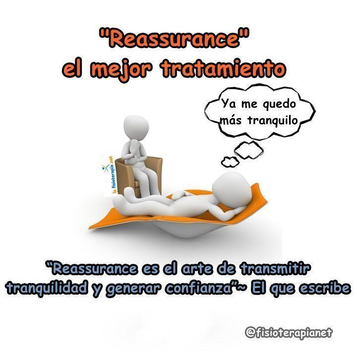 Reassurance es el arte de crear confianza