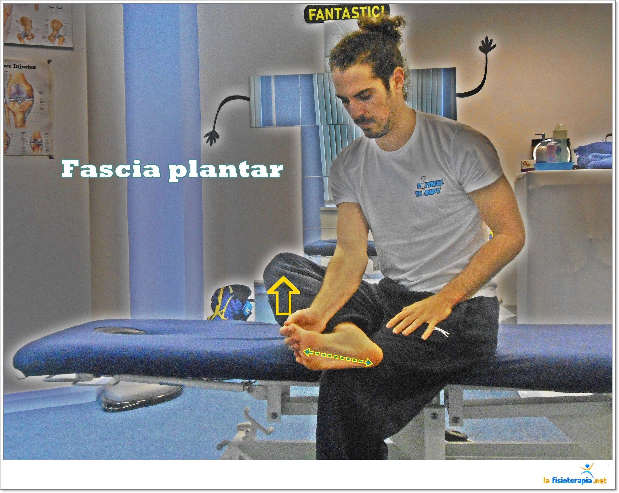 Estiramiento específico de la fascia plantar