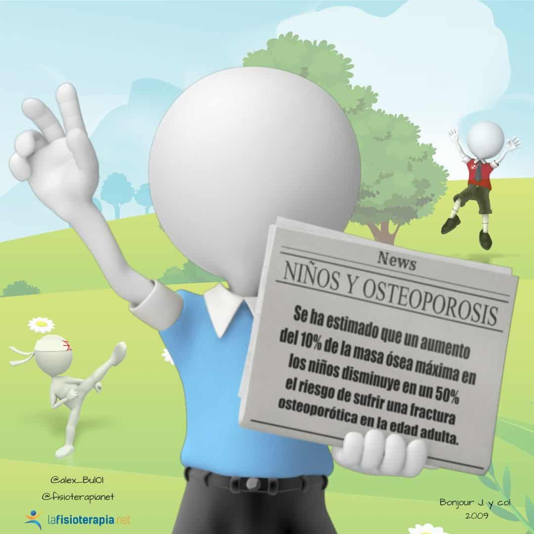 el ejercicio en niños previene osteoporrosis