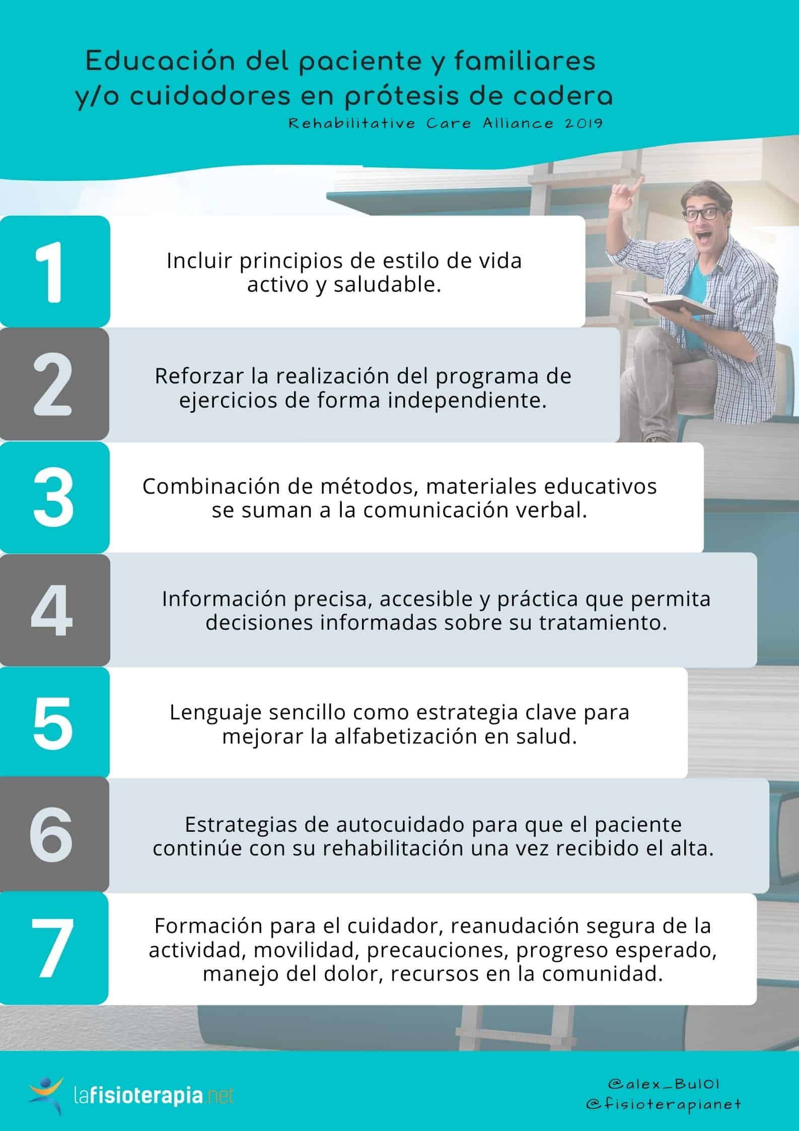educacion en rehabilitation protesis cadera